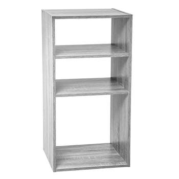 Etagère en bois grisé 3 casiers 67 cm