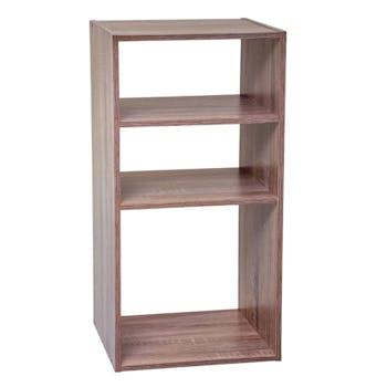 Etagère en bois naturel 3 casiers 67 cm