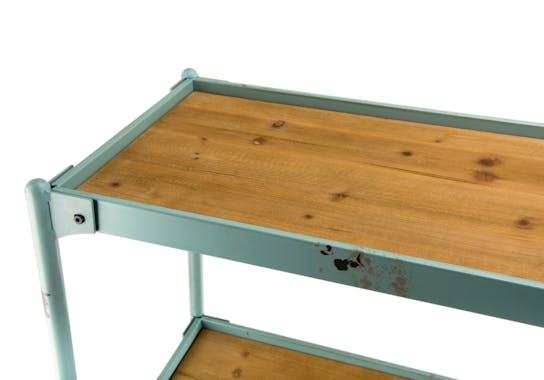 Etagere en bois et metal vieilli de style industriel