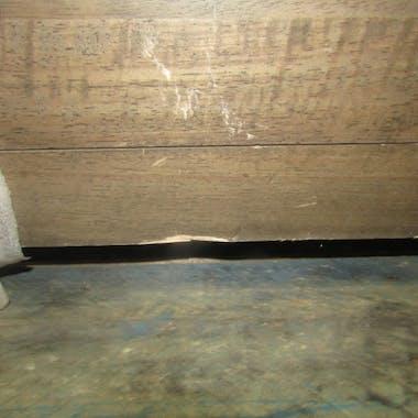 Etagère vitrée hévéa 120cm HELENA