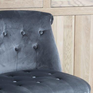 Fauteuil de salon gris XL VARSOVIE