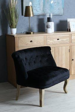 Fauteuil de salon noir XL VARSOVIE