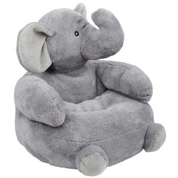 Fauteuil pouf éléphant gris