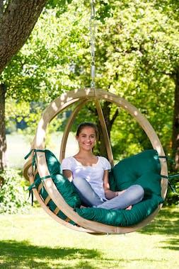Fauteuil suspendu jardin vert GLOBO