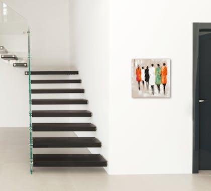 FEMMES Tableau Figuratif carré Multicolore Acrylique 40x40