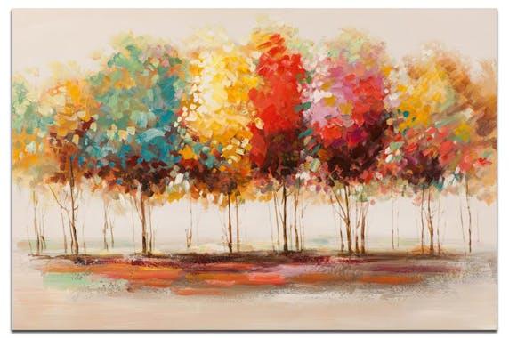 FORETS Peinture Paysage rectangle Multicolore Acryl. 120x80