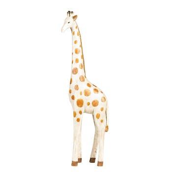 Girafe bois et métal H.43cm