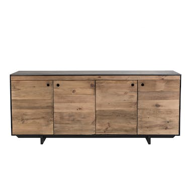 Grand buffet 4 portes bois recyclé pin CRACOVIE