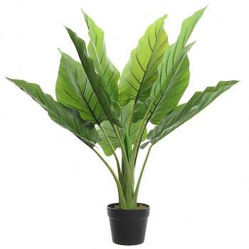 Grande plante artificielle en pot