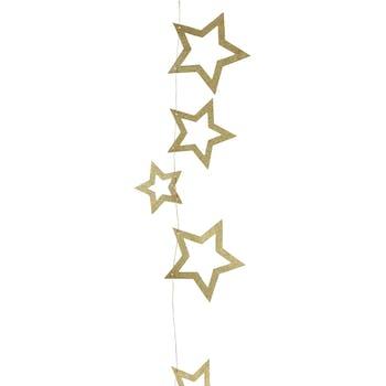 Guirlande d'Etoiles dorées250 cm