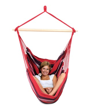 Hamac chaise suspendu HAVANA Fuego Rouge rose 150x120cm AMAZONAS