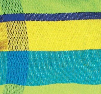 Hamac de jardin 2 places BARBADOS Lemon Jaune bleu 230x150cm AMAZONAS