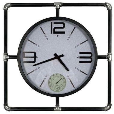 Horloge murale avec thermomètre et hygromètre