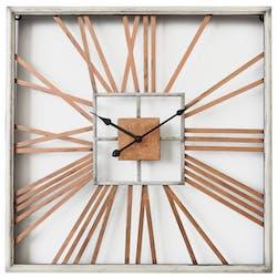 Horloge murale carrée baguettes