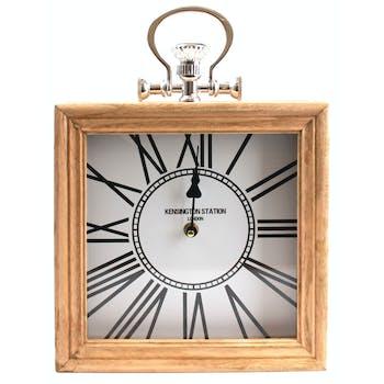 Horloge murale carrée façon cadre