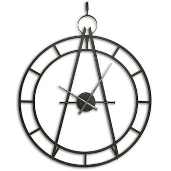 Horloge murale décor cadran solaire