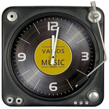 Horloge murale décor vinyle