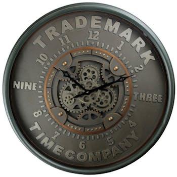 Horloge murale engrenages Trademark