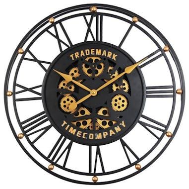 Horloge murale noir et or