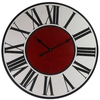 Horloge murale vintage chiffres romains noirs