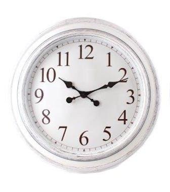 Horloge ronde rétro blanche D60cm