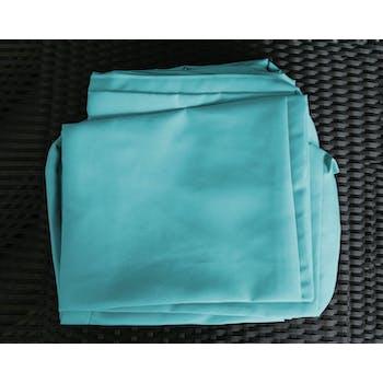 Jeu de Housses tissu bleu pour Salon de Jardin LE CARRE