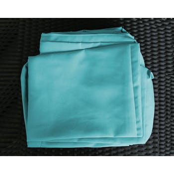 Jeu de Housses tissu bleu pour Salon de Jardin SUMATRA