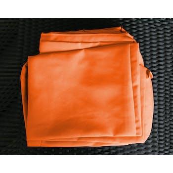 Jeu de Housses tissu orange pour Salon de Jardin LE CARRE