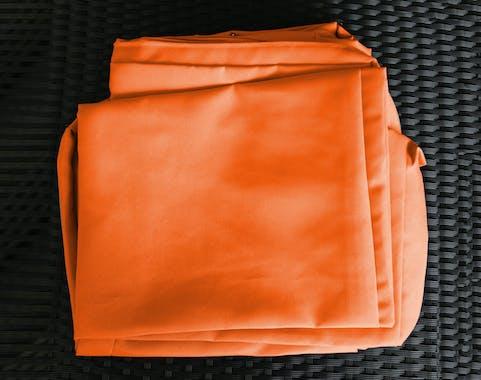 Jeu de Housses tissu orange pour Salon de Jardin OAXACA
