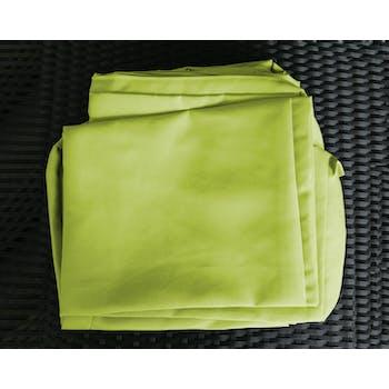 Jeu de Housses tissu vert pour Salon de Jardin CANCUN