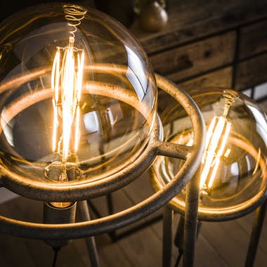 Lampadaire industriel 2 baladeuses XL NIAGARA