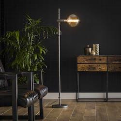 Lampadaire industriel droit 1 lampe métal vieilli TRIBECA
