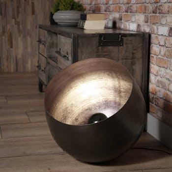 Lampe à poser industrielle cloche noire XL TRIBECA
