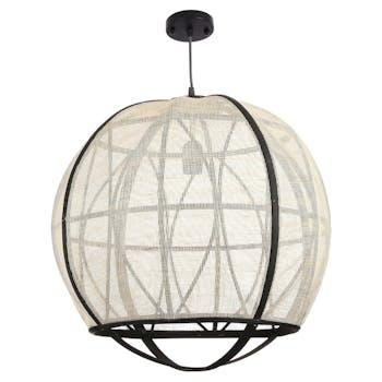 Lampe boule noire et blanche