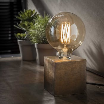 Lampe de chevet vintage bronze vieilli TRIBECA