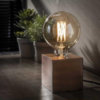 Lampe de chevet vintage cuivre vieilli TRIBECA