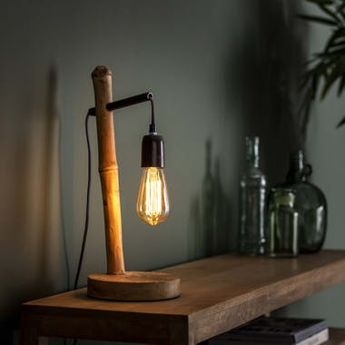 Lampe décorative pied bambou LUCKNOW