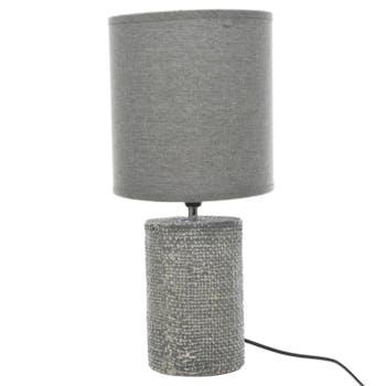 Lampe en céramique grise D30xH70cm
