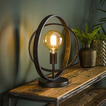 Lampe industrielle anneaux croisés TRIBECA