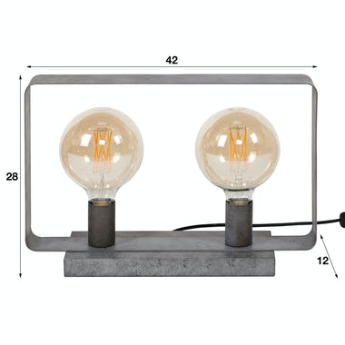 Lampe industrielle bandeau 2 lampes RALF
