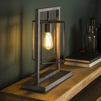 Lampe industrielle lampion métal vieilli RALF