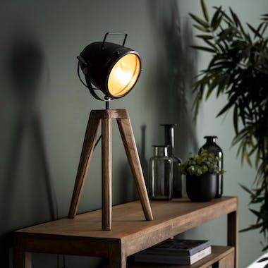 Lampe projecteur abat-jour noir LUCKNOW