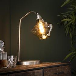 Lampe vintage verre ambré métal NIAGARA