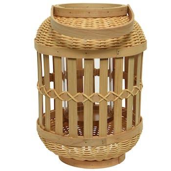 Lanterne en bambou à anse 31 cm