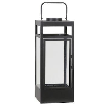 Lanterne rectangle noire à LED