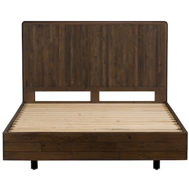 Lit 2 places bois recyclé brun 180 cm QUEENSTOWN