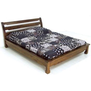 Lit 2 places façon futon Hévéa pour couchage 180x200 224x197x90cm MAORI