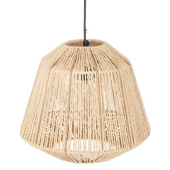 Luminaire suspension corde beige réf. 30022101