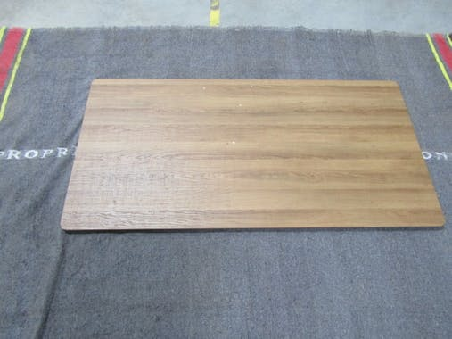 Mange-debout effet bois brun 140 cm HELSINKI