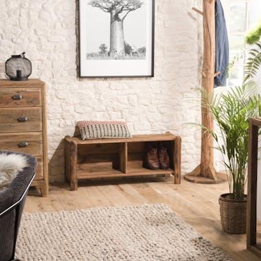Meuble à chaussures en bois de pin recyclé DENVER